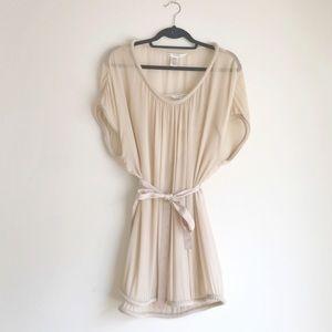 DvF • Cream Silk Beaded Dress